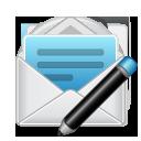 Enveloppe avec stylo pour envoi email